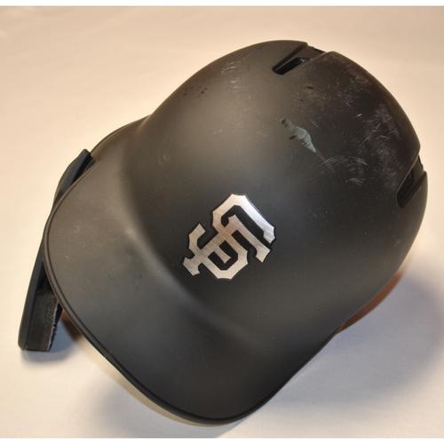 "Photo of Brandon ""DJ BC Raw"" Crawford San Francisco Giants Game-Used 2019 Players' Weekend Helmet"