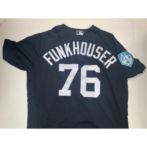 Photo of Team-Issued #76 Funkhouser Home Spring Training Jersey