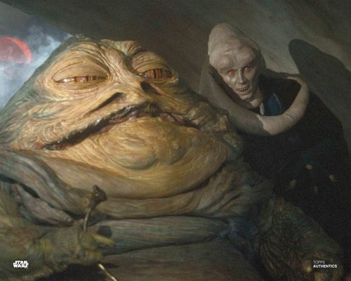 Jabba the Hutt and Bib Fortuna