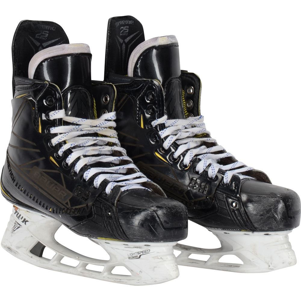 Pavel Buchnevich New York Rangers Game-Used Black Bauer Skates from the 2018-19 NHL Season