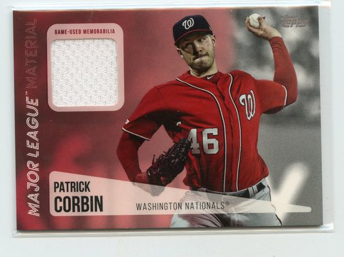 Photo of 2019 Topps Update Major League Materials #MLMPC Patrick Corbin