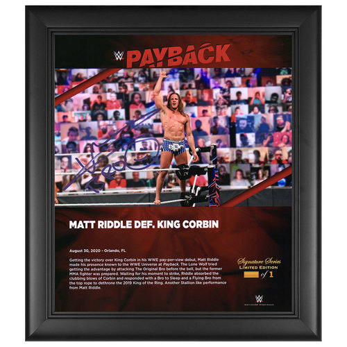 Photo of Riddle SIGNED Payback 2020 Signature Series Frame (#1 of 1)