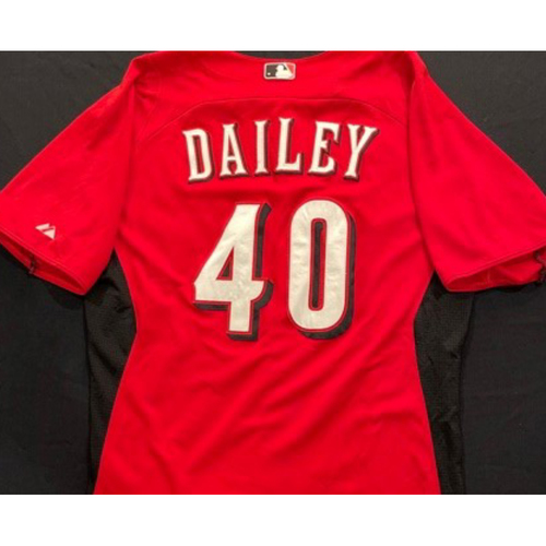 DAILEY -- Authentic Reds Jersey -- $1 Jersey Auction -- $5 Shipping -- Size 44 (Not MLB Authenticated)