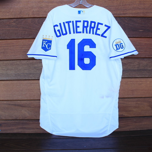 Photo of Game-Used 2020 Los Reales Jersey: Kelvin Gutierrez #16 (PIT @ KC 9/12/20) - Size 46