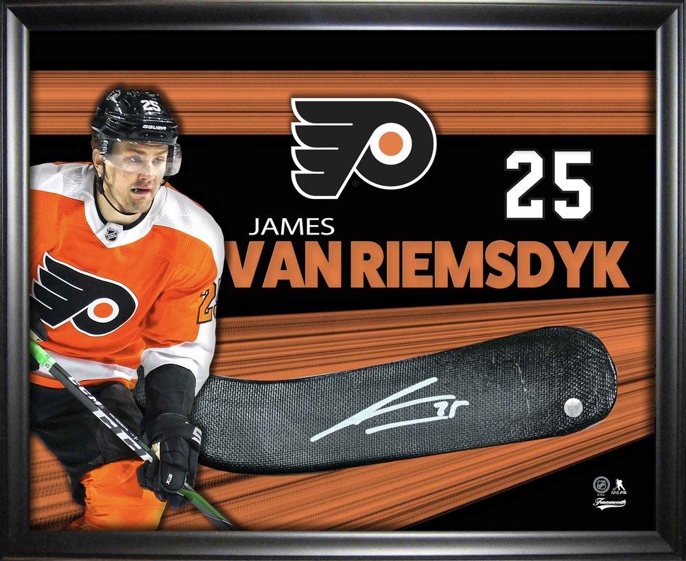 James Van Riemsdyk Signed Stickblade Framed PhotoGlass Flyers