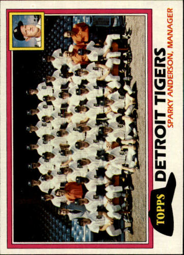 Photo of 1981 Topps #666 Tigers Team/Mgr./Sparky Anderson/(Checklist back