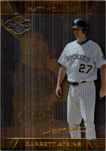 Photo of 2007 Topps Co-Signers Silver Gold #4B Garrett Atkins w/Matt Holliday