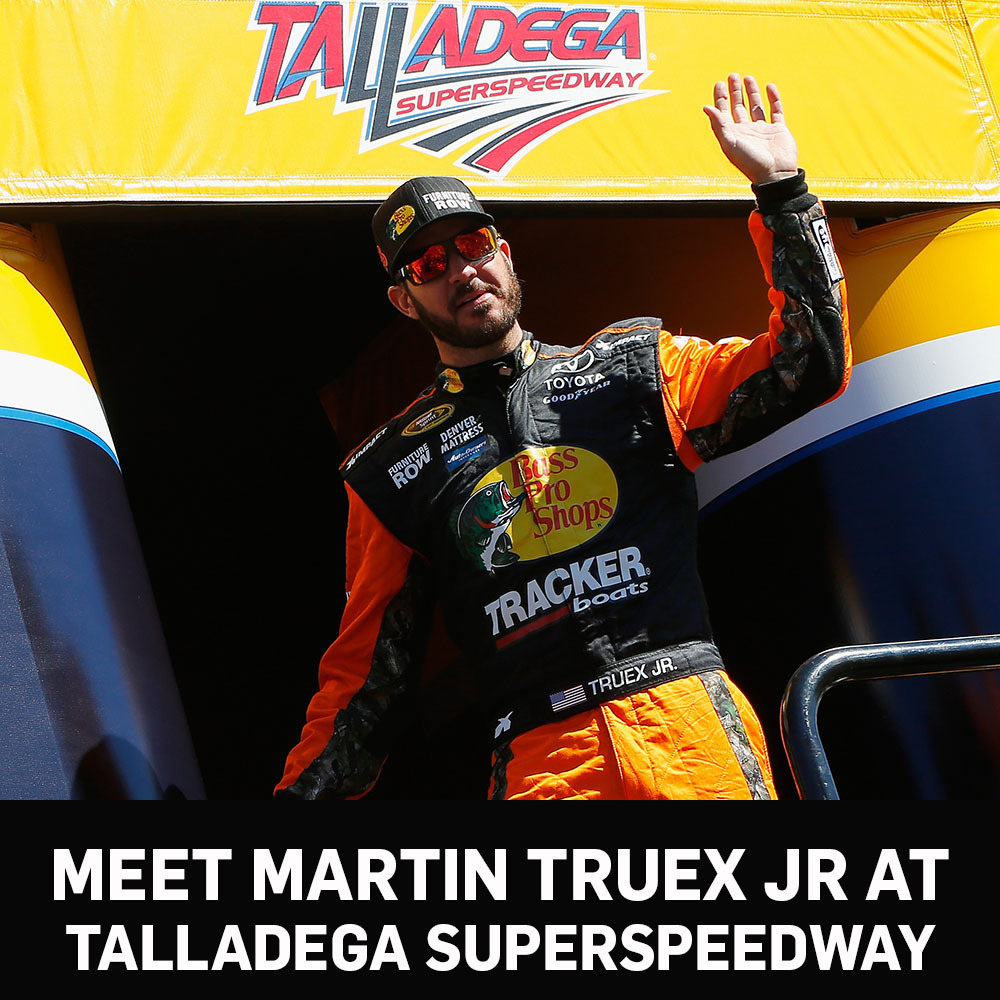Meet Martin Truex Jr at Talladega Superspeedway!