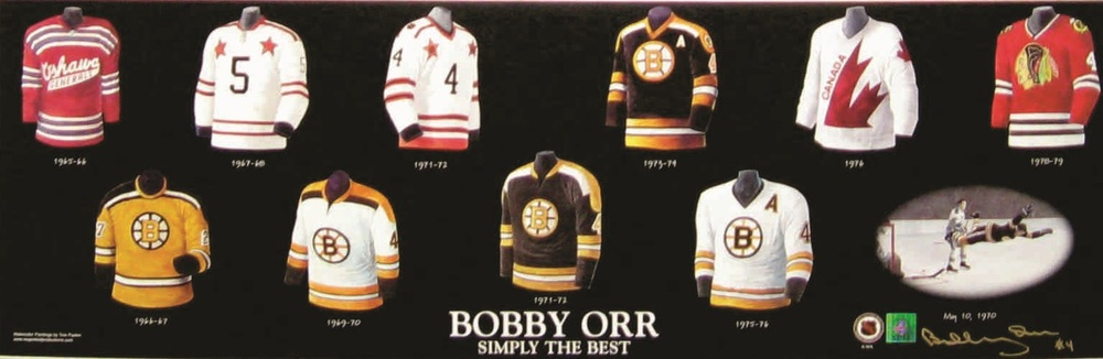Bobby Orr - Signed 10x13 Jersey Evolution Photo