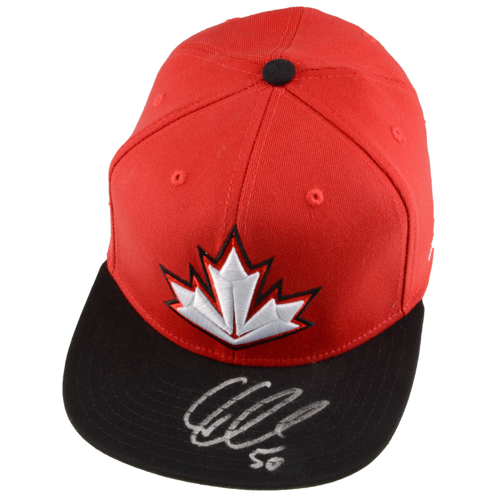 Corey Crawford Chicago Blackhawks Autographed Team Canada 2016 World Cup of Hockey Cap
