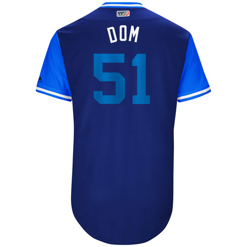 "Photo of Dominic ""Dom"" Leone Toronto Blue Jays Game-Used Players Weekend Jersey"