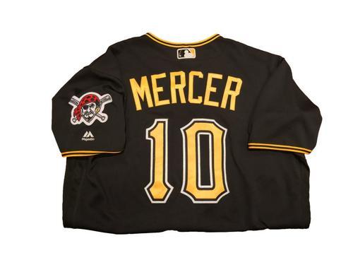 Photo of #10 Jordy Mercer Game-Used Black Alternate Jersey - Worn on 4/24/17