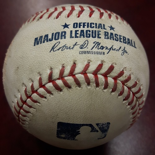 Photo of Authenticated Game Used Baseball - April 4, 2018 vs Chicago White Sox: Strikeout by Aaron Sanchez against Matt Davidson (Top 6)