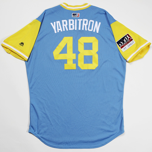 "Photo of Ryan ""Yarbitron"" Yarbrough Tampa Bay Rays Game-Used 2018 Players' Weekend Jersey"