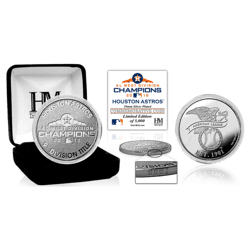 Photo of Houston Astros 2018 AL West Division Champions Silver Mint Coin
