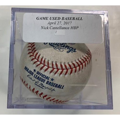 Photo of Game-Used Baseball: Nicholas Castellanos Hit by Pitch