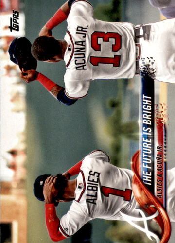 Photo of 2018 Topps Update #US43 The Future is Bright/Ozzie Albies/Ronald Acuna Jr.