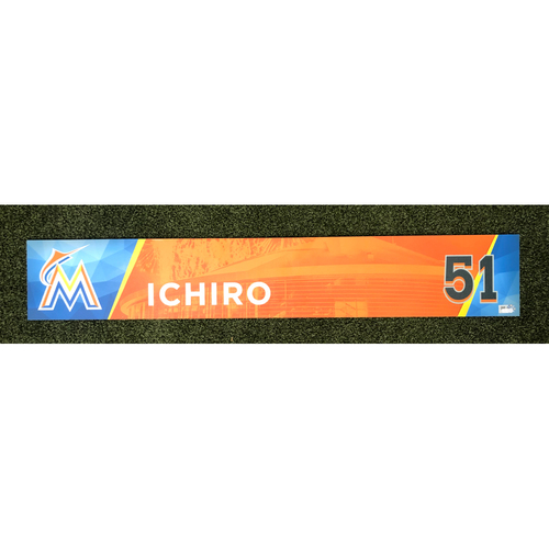 Photo of Game-Used Locker Tag: Ichiro Suzuki