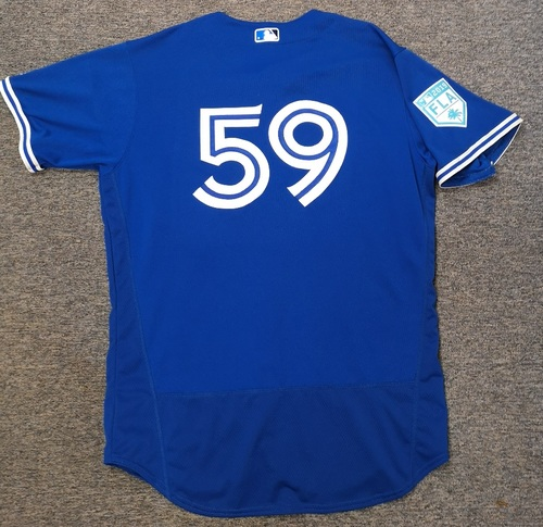 Photo of Authenticated Game Used 2019 Spring Training Jersey - #59 Brock Lundquist (Mar 25). Size 48