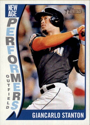 Photo of 2014 Topps Heritage New Age Performers #NAPGS Giancarlo Stanton