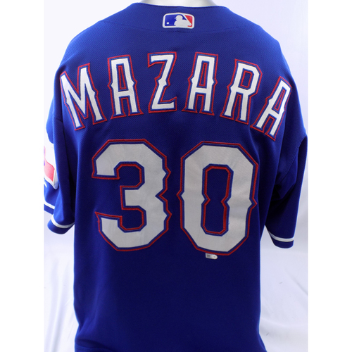 Photo of Game-Used Blue Nomar Mazara Homerun Jersey - 6/22/19, 7/21/19, 7/23/19, 7/28/19