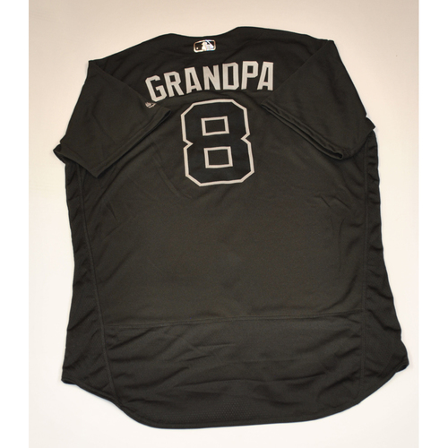 "Photo of Alex ""Grandpa"" Dickerson San Francisco Giants Game-Used 2019 Players' Weekend Jersey"