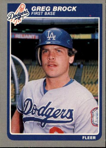 Photo of 1985 Fleer #368 Greg Brock