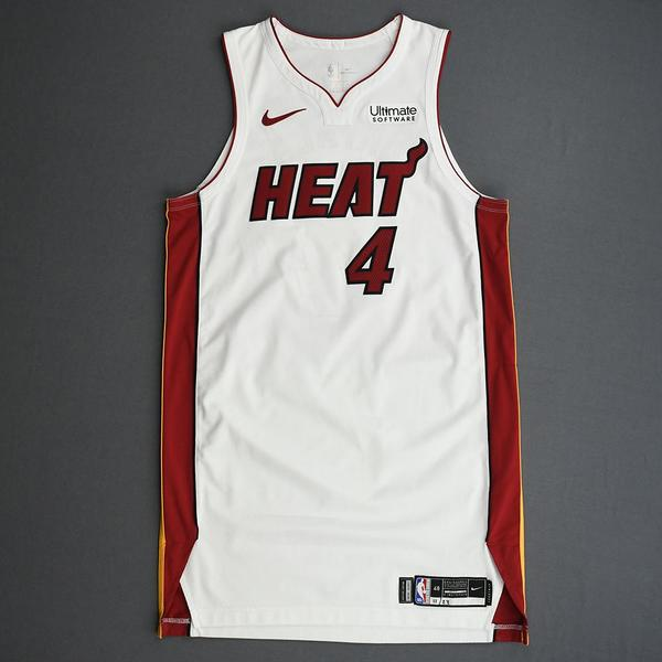 Image of KZ Okpala - Miami Heat - Game-Issued Association Edition Rookie Season Jersey - 2019-20 Season