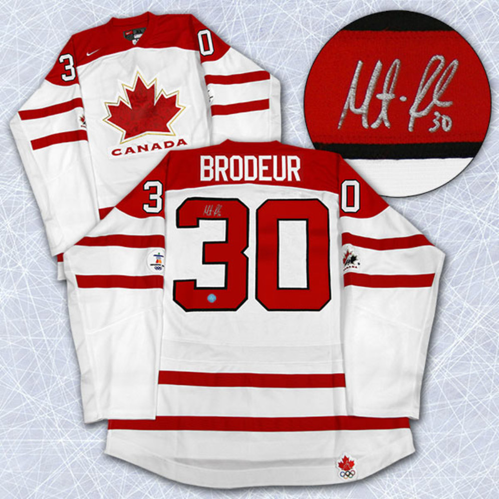 Martin Brodeur Autographed Team Canada 2010 Olympic Hockey Jersey