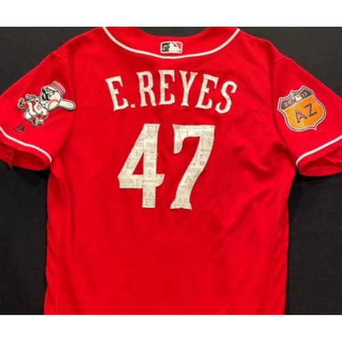 Photo of E. REYES -- Authentic Reds Jersey -- $1 Jersey Auction -- $5 Shipping -- Size 44 (Not MLB Authenticated)
