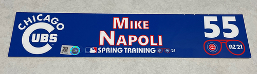 Photo of Mike Napoli 2021 Spring Training Locker Nameplate
