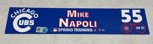 Photo of Mike Napoli 2021 Spring Training Locker Nameplate