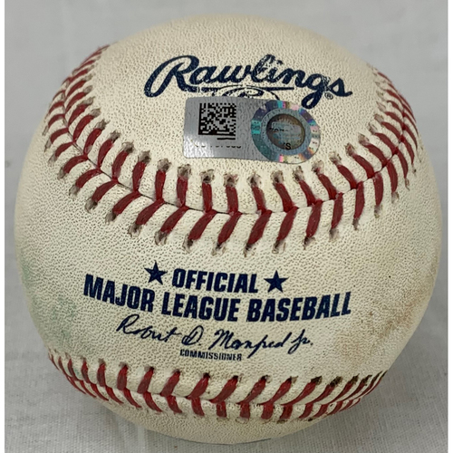 Photo of 2021 Game-Used Baseball - Pitcher: Brian Shaw, Batter: Jose Altuve - RBI Double - Bottom 6 - 7/21/21