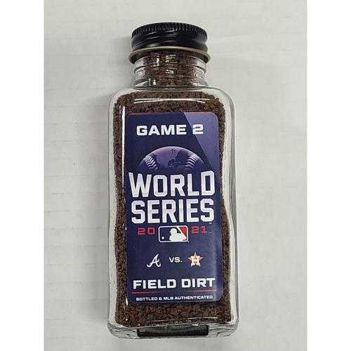Photo of PRESALE - Game-Used Dirt Jar - 2021 World Series - Atlanta Braves vs. Houston Astros - Game 2