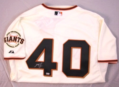 Photo of Madison Bumgarner Autographed Giants Jersey