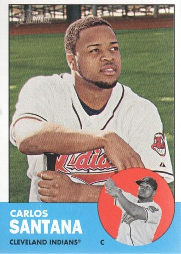 Photo of 2012 Topps Heritage #72A Carlos Santana