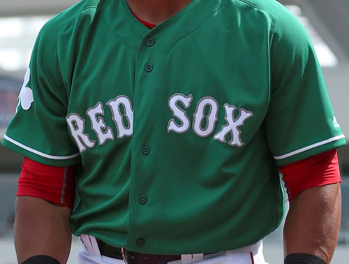 the latest cb513 21c73 boston red sox green jersey