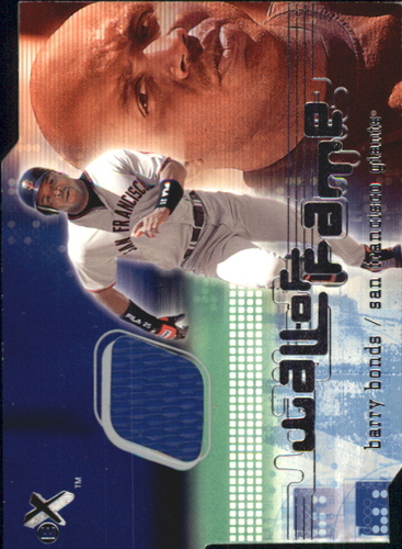 Photo of 2001 E-X Wall of Fame #2 Barry Bonds