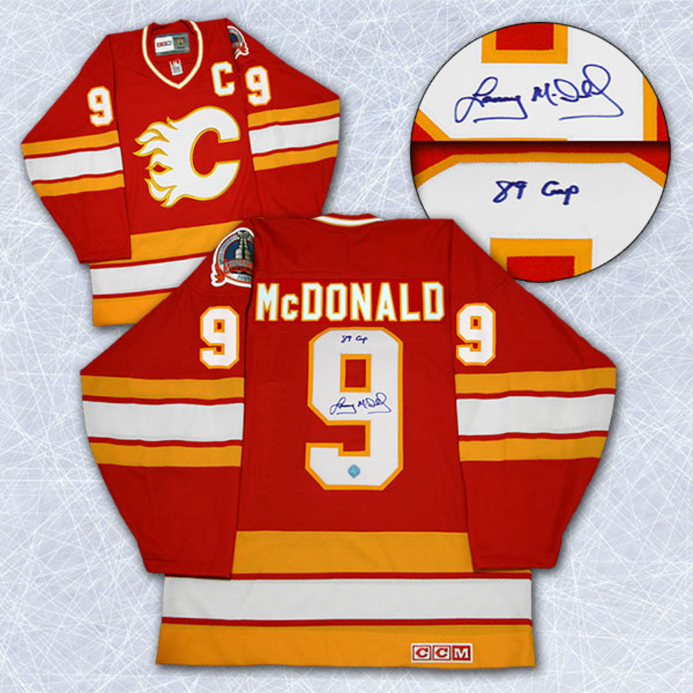 Lanny McDonald Calgary Flames Autographed Stanley Cup Retro CCM Hockey Jersey