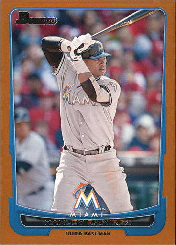 Photo of 2012 Bowman Orange #71 Hanley Ramirez