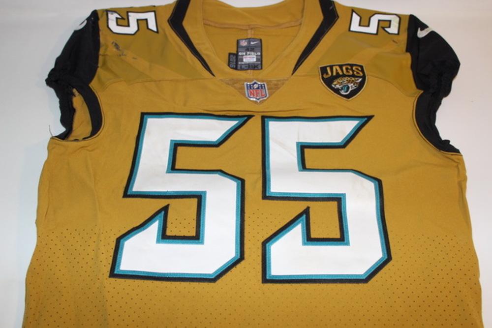 NFL Auction | JAGUARS - DAN SKUTA GAME WORN JAGUARS COLOR RUSH ...