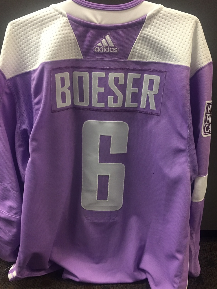 ... vancouver canucks 6 11baa 5a5e7  wholesale brock boeser 6 autographed  warm up worn hockey fights cancer jersey d8c86 1feb3 2db3a01d1