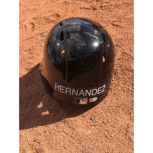Photo of San Francisco Giants - 2017 Game-Used Spring Training Helmet Worn by #66 Gorkys Hernandez - Size 7 3/8