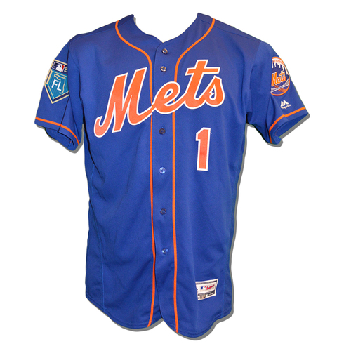 Photo of Amed Rosario #1 - Game Used Spring Training Jersey - 2018 Season