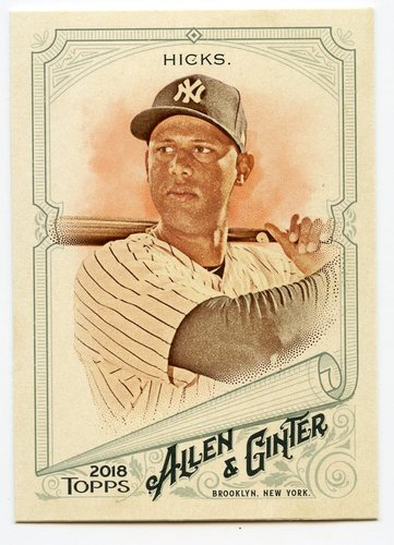 Photo of 2018 Topps Allen and Ginter #44 Aaron Hicks
