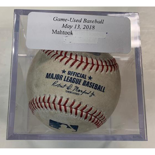 Photo of Game-Used Baseball: Mikie Mahtook RBI Single