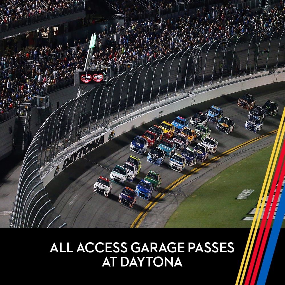 All Access Garage Passes at Daytona International Speedway!