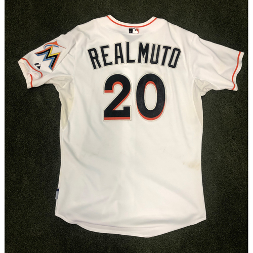 Game-Used Jersey: J.T. Realmuto First Career Homerun (May 18, 2015) & 3 Run Homerun (June 12, 2015) - Size 48