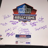 HOF - multi signed 20x24 Hall of Fame logo canvas print (including Jim Kelly, Steve Largent, Tim Brown, Fred Biletnikoff, Ron Wolf) total of 11 signatures