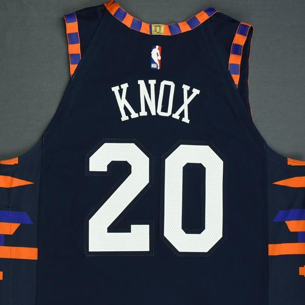 promo code 431f3 913b6 Kevin Knox - New York Knicks - Game-Worn City Edition Jersey ...